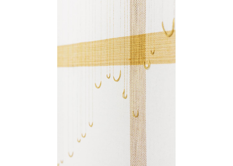 한가지-3_면사, 합성사, 나무프레임_160x465cm_2018_부분@One thing-3_cotton yarn, polyester yarn, wood frame_160x465cm_2018_detail
