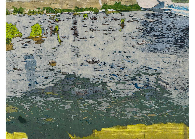 권세진, 강, gouache on paper, 138.5×183.0cm, 2016 @Kwon Sejin, The river, gouache on paper, 138.5×183.0cm, 2016