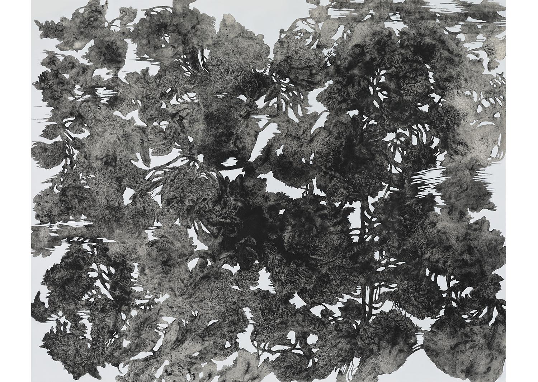 유정현, 도시식물-1809,  acrylic on canvas, 130 x 160cm, 2018@Yoo Jung-hyun, Urban Plant-1809, acrylic on canvas, 130x160cm, 2018