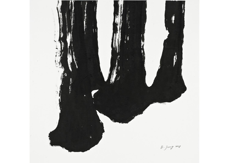 ATTUNEMENT, ink on mulberry Hanji, 75x78, 2017@ATTUNEMENT, ink on mulberry Hanji, 75x78, 2017