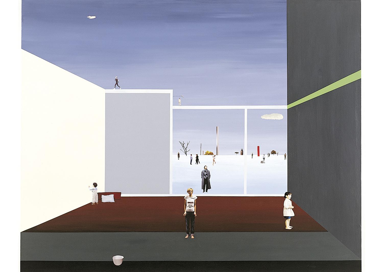 김형무, 단상채집-복제된 일상, mixed media on canvas, 130x162cm, 2010@Kim, Hyoungmoo, Collection of Essays- Cloned everyday, mixed media on canvas, 130x162cm, 2010