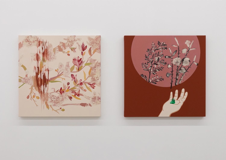 유정현_어긋나고 납작한/봄_캔버스에 아크릴_65x65cm_2018@Junghyun Yoo_Off and flat/Spring_Acrylic on canvas_65x65cm_2018