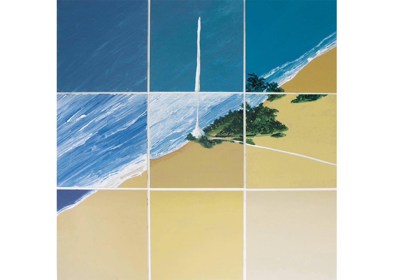 박수연, seaside, 장지에혼합채색, 180.6x180cm, 2016 @Park Suyeon, Seaside, Mixed coloring on the paper, 180.6x180cm, 2016