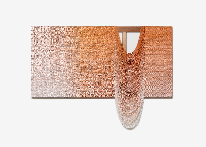 ㅊㅓㅓㅓㅓㄴ-6_면사, 합성사, 나무프레임_147x194cm_2019@clooooth-6_cotton yarn, polyester yarn, wooden frame_147x194cm_2019