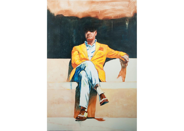 이상익, 그는 완벽한 아름다움을 고민한다, 캔버스에 유채, 162.2x112.1cm, 2019@Lee, sangik, He contemplate for perfect beauty, oil on canvas, 162.2x112.1cm, 2019