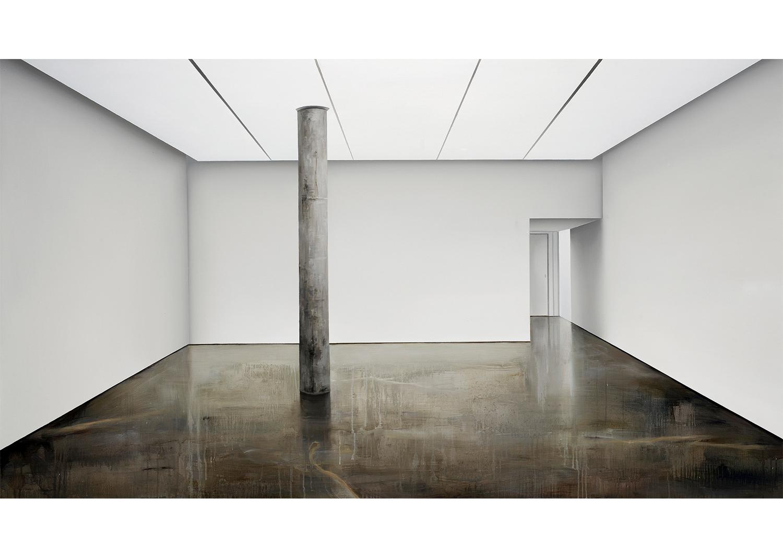 오희원,Blind Site - Vacant, oil on canvas, 162.0 x 97.0cm, 2013@Heewon Oh,Blind Site - Vacant, oil on canvas, 162.0 x 97.0cm,2013