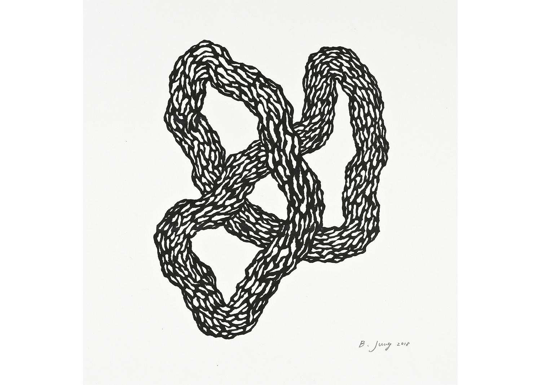 ENTANGLEMENT, ink on mulberry Hanji, 75x65.5cm, 2018@ENTANGLEMENT, ink on mulberry Hanji, 75x65.5cm, 2018