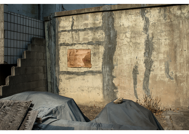 전리해, Traces-in-place, 장지에 채색,Digital pigment print, 100x150cm, 2014@Jeon Rihae, Traces-in-place, Coloring on the paper, Digital pigment print, 100x150cm, 2014