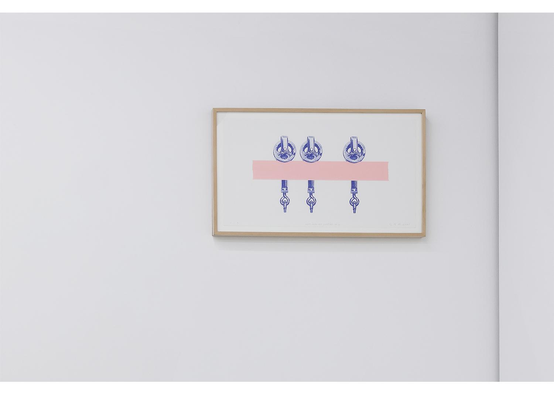 김영재_Meat Hooks for Sculptors no.2_종이에 잉크, 실크스크린_35x64cm_2021@Youngjae Kim_Meat Hooks for Sculptors no.2_Ink on paper, Silkscreen_35x64cm_2021