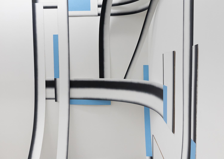 김승현_Composition-series_나무합판, 페인트, 못_가변설치_2021@SeunghyunKim_Composition-series_wood, paint, nail_variable installation_2021