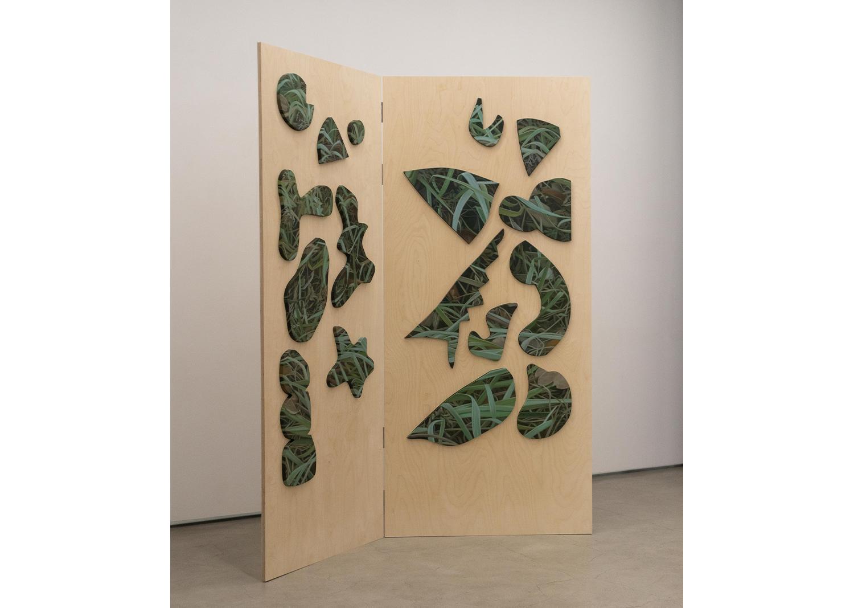 강민영_병풍 Op.1_Oil on canvas, wood_220x100cm_2021@MinyoungKang_Folding Screen  Op.1_Oil on canvas, wood_220x100cm_2021
