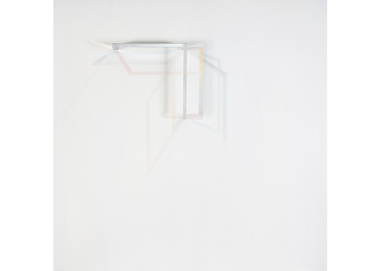 Dialogue 3, oil on canvas,wood stick,plexiglass, 97x97cm, 2018@Dialogue 3, oil on canvas,wood stick,plexiglass, 97x97cm, 2018