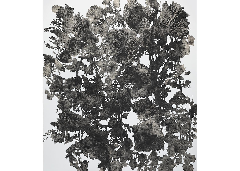 유정현, 도시식물-1808,  acrylic on canvas, 210 x 180cm, 2018@Yoo Jung-hyun, Urban Plant-1808, acrylic on canvas, 210x180cm, 2018